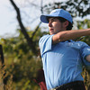 Byfield: Triton golfer Ryan Manning tees of at Ould Newbury during the Viking's match against Rockport Wednesday. Jim Vaiknoras/staff photo
