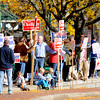 "Amesbury: Over 100 people showed up in Market Square in Amesbury for the ""I am Pro Amesbury"" Sunday afternoon. Jim Vaiknoras/staff photo"