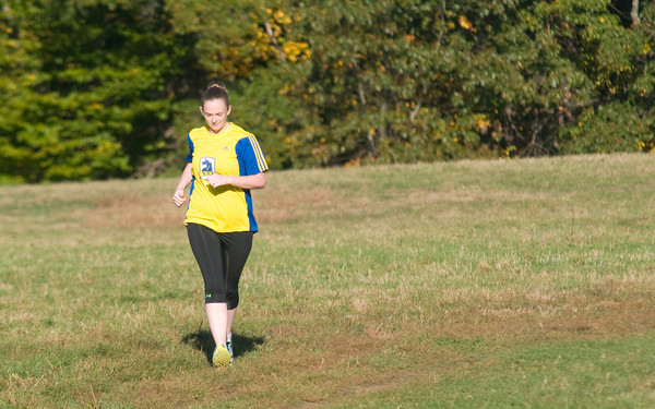 Newburyport: Caitlin Stokes, runs in Maudslay State Park this former Pentucket runner will be running the Boston Marathon next year after watching from the finish line when bombs went off. Jim Vaiknoras/staff photo