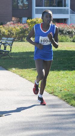 Newburyport: Woman's winner of the Green Stride Half Marathon in Newburyport Sunday. Jim Vaiknoras/staff photo