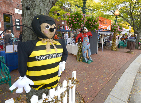 Amesbury: One of the many scarecrows in Market Square at the annual Fall Festival in Amesbury Saturday. Jim Vaiknoras/staff photo