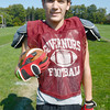 Byfield: Governor's runningback Brandon Lopez of Amesbury at practice. Jim Vaiknoras/staff photo