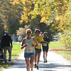 Newburyport: Runner in the Newburyport Green Stride Half Marathon make their way under the fall foliage on the Rail Trail in Newburyport Sunday afternoon. JIm Vaiknoras/staff photo