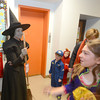 Newburyport: Brown School teacher Meg Foster dressed as the Wicked Witch of the West at the Brown School and Newburyport Elementary PTO  annual BOO BASH Fridat night. Jim Vaiknoras/staff photo