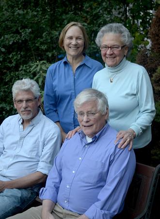 JIM VAIKNORAS/Staff photo Powow Poet's Toni Treadway, Rhina Espaillat, Alfred Nicol, and David Davis.