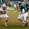 BRYAN EATON/Staff photo. Newburyport's Myles Maloof runs into some Pentucket defense.