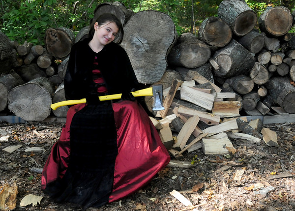 JIM VAIKNORAS/staff photo Grace Habib, 10, as The Devil's Daughter for Theater in the Open's Maudslay is Haunted
