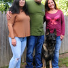 JIM VAIKNORAS/Staff photo  Police dog Achilles with Officer Tom Nichols and his family in Amesbury.