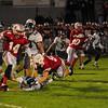 JIM VAIKNORAS/Staff photo Amesbury's Logan Burrill makes a move against Triton at Amesbury Friday night.
