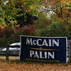 JIM VAIKNORAS/Staff photo A large McCain /Palin sign from the 2008 Presidential Campaign displayed along Merrimac Street in Amesbury.