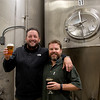 JIM VAIKNORAS/Staff photo Newburyport Brewing Co. owners Chris Webb and Bill Fisher.