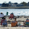 RYAN EATON/Staff photo. Beachgoers were back out at Salisbury Beach State Reservation on Wednesday afternoon as the weather rose into the 70's. More seasonable weather is on tap with some rain.
