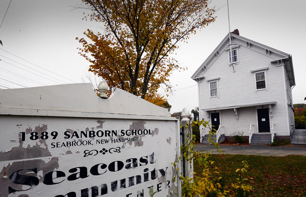 BRYAN EATON/Staff photo. The old Sanborn School on Route One in Seabrook.