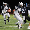 JIM VAIKNORAS/Staff photo Swampscott's Isaiah Bascon looks for running room at Triton Friday.