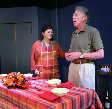 BRYAN EATON/Staff photo. June Kfoury as the mother Grace and Alan Huisman as the father Bill.