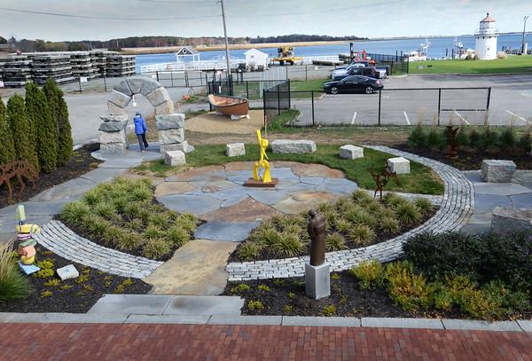 BRYAN EATON/Staff photo. New sculpture park opens behind Newburyport Art Association. 10/25/16