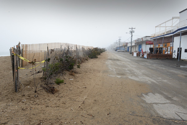 BRYAN EATON/Staff photo. A boardwalk is to be built here on Oceanfront South at Salisbury Beach.