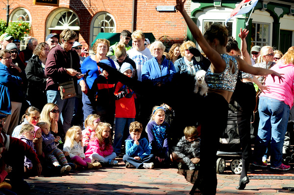 JIM VAIKNORAS/staff photo Dancers from the New Hampshire Academy of Performing Arts perform at the Annual Newburyport Harvest Festival in Market Square.