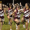 Newburyport:Newburyport's cheerleaders perform Friday night  at the Clippers game vs Hamilton-Wenham.<br /> Photo by Jim Vaiknoras/Newburyport Daily News Friday, October 05, 2007