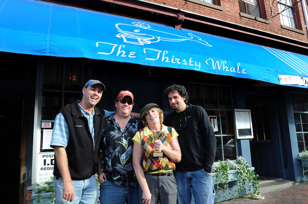 "Newburyport: The All American Tavern of Salisbury held a golf tournament, which they hope to continue next year, at Evergreen Valley Golf Course last week. The  tournament raised money for the Pettengill House. The Thirsty Whale team won, from left, Mark Alford, ""Pat"", Diane Green and Seth Perron."
