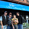 """Newburyport: The All American Tavern of Salisbury held a golf tournament, which they hope to continue next year, at Evergreen Valley Golf Course last week. The  tournament raised money for the Pettengill House. The Thirsty Whale team won, from left, Mark Alford, """"Pat"""", Diane Green and Seth Perron."""
