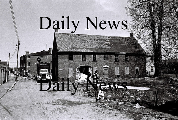 Newburyport: Unicorn Street right before demolition April 1968.<br /> Photo by Urban Renewal/Newburyport Daily News. Tuesday, June 26, 2007