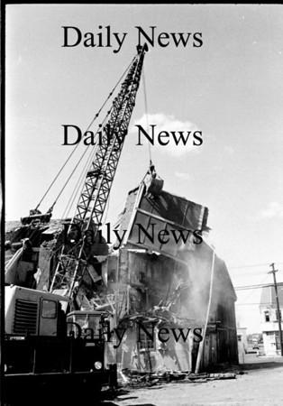 Newburyport: Demolishion on Water Street. Across from the telephone garage 1968.<br /> Photo by Urban Renewal/Newburyport Daily News. Tuesday, March 20, 2007