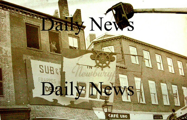 Newburyport:<br /> The sign for Bob's Sub shop comes down in 1976 where the Thirsty Whale in now located.<br /> Photo by Handout/Newburyport Daily News Thursday, October 04, 2007