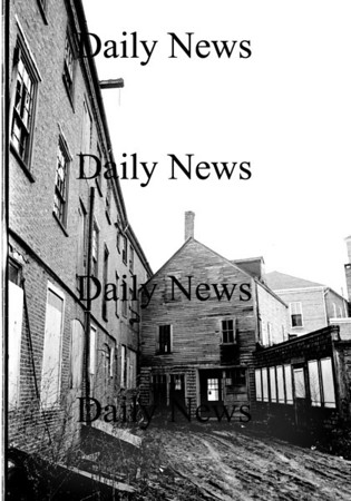 Newburyport: behind North Row. Firehouse is in the back ground. Dec 1968<br /> Photo by Urban Renewal/Newburyport Daily News. Tuesday, April 10, 2007