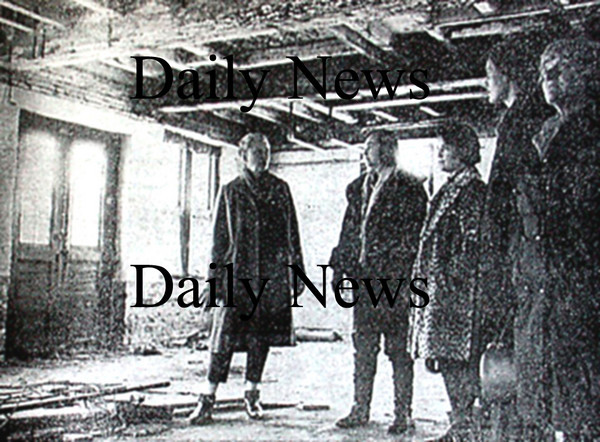 Newburyport: In a photograph from March 6, 1970 Members of the Newburyport Art Association involved in the substantial project of converting the old Victor Mfg. Co building on Water Street into a meeting and exhibition hall. From the left, Mary Whiting, Stasia Caselli, Rosemary Sloane, Audrey Bechler and Mildred Hartson.<br /> Photo by Urban Renewal/Newburyport Daily News. Wednesday, April 4, 2007