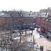 Newburyport: Market Square from the roof of the Firehouse. The old photo wastaken from the hose tower of the Fire House. which is no longer accessable.<br /> Photo by Jim Vaiknoras/Newburyport Daily News. Monday, March 12, 2007