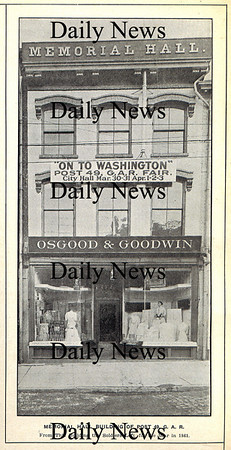Newburyport: Photo of the Grand Army Building on State street from a G.A.R. fair in 1915.<br /> Photo by Urban Renewal/Newburyport Daily News. Tuesday, March 20, 2007