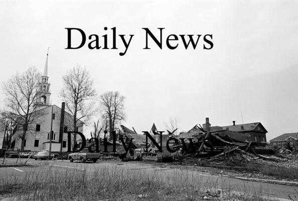 Newburyport: Unicorn Street demolishion of 20th Century Cleaners. April 1970<br /> Photo by Urban Renewal/Newburyport Daily News. Thursday, April 26, 2007