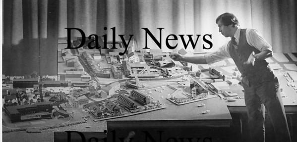 Newburyport: Sy Mintz with Waterfront Development plans 1980<br /> Photo by Urban Renewal/Newburyport Daily News. Tuesday, March 20, 2007