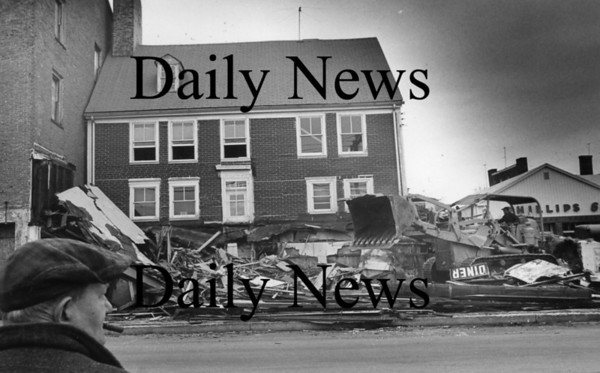 Newburyport: Merrimack street demolishion 1968<br /> Photo by Urban Renewal/Newburyport Daily News. Tuesday, March 20, 2007
