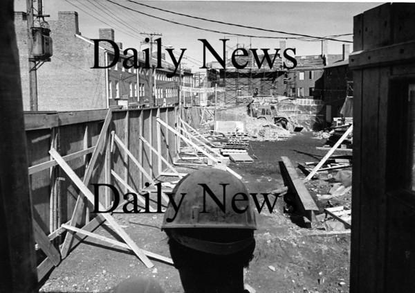 Newburyport: Construction on Inn Street Feb 1974<br /> Photo by Urban Renewal/Newburyport Daily News. Sunday, April 1, 2007