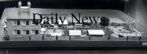 Newburyport: <br /> The model of a proposed working museum behind the Custom House Maritime Museum.<br /> Photo by Handout/Newburyport Daily News. Thursday, March 29, 2007