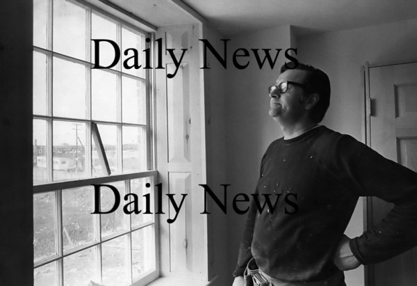 Newburyport: Dick Sullivan in his Inn Street office 1973<br /> Photo by Urban Renewal/Newburyport Daily News. Wednesday, June 13, 2007