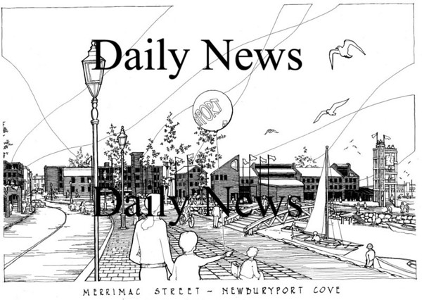 Newburyport: <br /> Artists concept of one plan in the downtown looking west along Merrimac Street 30 yards from the Firehouse Center.<br /> Photo by Handout/Newburyport Daily News. Wednesday, August 8, 2007