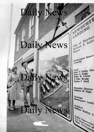 Newburyport: <br /> Kathleen Doyle, director of community development and Mayor Richard Sullivan look at plans for the Newburyport Waterfront in 1982.<br /> Photo by Handout/Newburyport Daily News. Wednesday, August 8, 2007