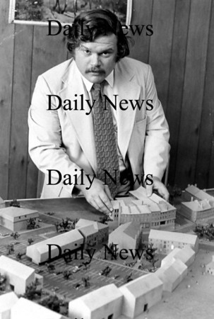 Newburyport: <br /> Jack Bradshaw with model of the downtown.<br /> Photo by Handout/Newburyport Daily News. Thursday, September 6, 2007