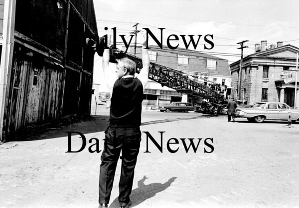 Newburyport: Demolishion on Water Street. Across from the telephone garage 1968.<br /> Photo by Urban Renewal/Newburyport Daily News. Tuesday, March 20, 2007