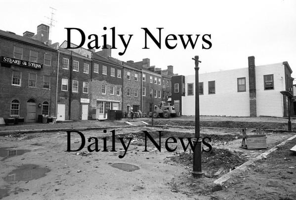 Newburyport:Inn Street, future site of the Tot Lot. Aug 1975 <br /> Photo by Urban Renewal/Newburyport Daily News. Thursday, April 26, 2007