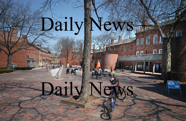 Newburyport: Looking down Inn Street toward Market Square.<br /> Photo by Jim Vaiknoras/Newburyport Daily News. Monday, April 23, 2007
