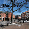 Newburyport:market Square looking down Merrimack Street toward Water Street.<br /> Photo by Jim Vaiknoras/Newburyport Daily News. Monday, March 12, 2007
