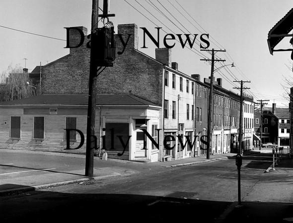 Newburyport: Early 70's looking down Inn Street toward Merrimack Street.Photo by Urban Renewal/Newburyport Daily News. Saturday, March 24, 2007