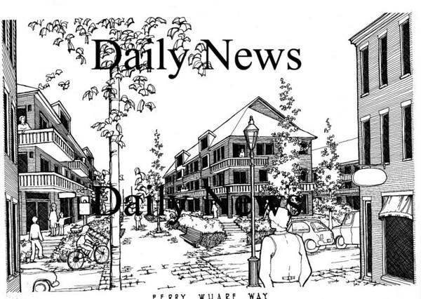 Newburyport: <br /> One idea for Ferry Wharf Way.<br /> Photo by Handout/Newburyport Daily News. Wednesday, August 8, 2007