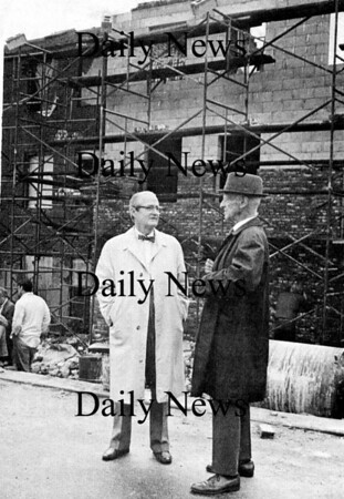 Other: Dr Robert Wilkins and architect William Perry on Inn Street.<br /> Photo by Urban Renewal/Newburyport Daily News. Tuesday, May 15, 2007