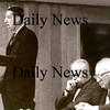 Newburyport: George Lawler debates Bossy Gillis on October 10, 1965.<br /> Photo by Urban Renewal/Newburyport Daily News. Thursday, July 19, 2007