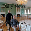 Newburyport:<br /> Maura McCarthy, manager of the Phoenix Room and Harborside Catering, and Roger Foster, previous owner of the building, who renovated it in the early 1980's, pose in the space as it looks today.<br /> Photo by Bryan Eaton/Newburyport Daily News Friday, October 19, 2007